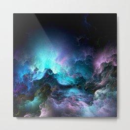 Unreal Stormy Ocean Metal Print