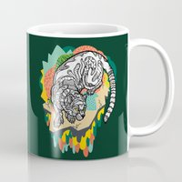 panther Mugs featuring Panther by casiegraphics