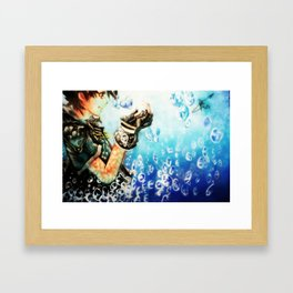 Kingdom Hearts _ Sora  Framed Art Print