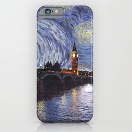 starry night over london iPhone Case