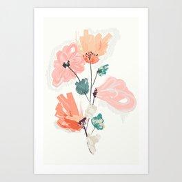 Wild Beauty Saffron Art Print