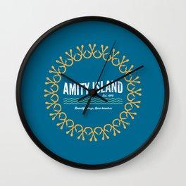 Amity Island - Vintage Jaws - Version 2 Wall Clock