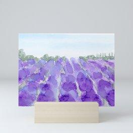 lavender farm Mini Art Print