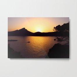 Sunset in Sant Elm Metal Print