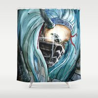 warrior Shower Curtains featuring Warrior by Anna Pietrawska