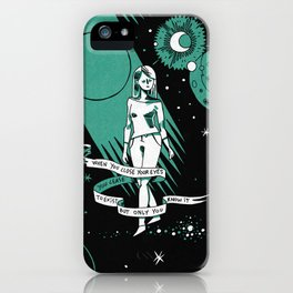 When you close your eyes iPhone Case