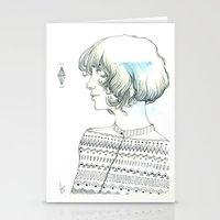 diamond Stationery Cards featuring Diamond by TamSanSerif