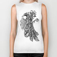 rooster Biker Tanks featuring Rooster by BurnBrand