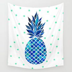 Maritime Pineapple Wall Tapestry