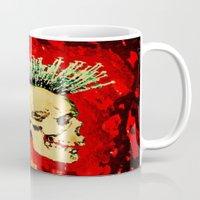 health Mugs featuring MENTAL HEALTH - 025 by Lazy Bones Studios