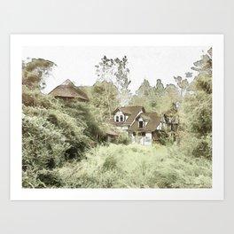 Abandoned Village Art Print