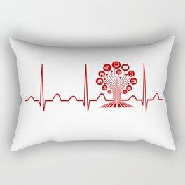 Technology Teacher Heartbeat Rectangular Pillow