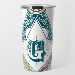 Square and Compass - freemasonry Travel Mug