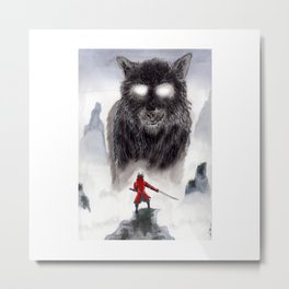 The Wolf of Bushido Metal Print