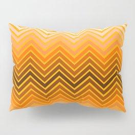 Orange chevron Pillow Sham