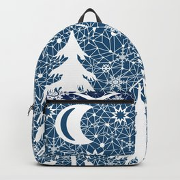 New year's design. Lace fabric . Backpack