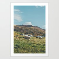 iceland Art Prints featuring Iceland by Chelle Wootten