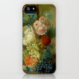 """Jan van Os """"Still life of peonies, a cock's comb and morning glories"""" iPhone Case"""