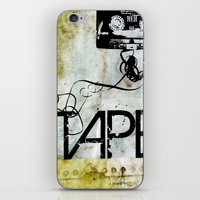 tape iPhone & iPod Skins featuring Tape by CoCoCo