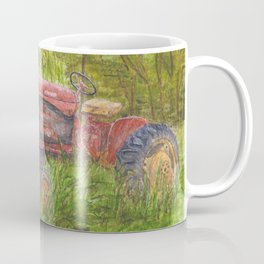 Old Massey Harris 55 tractor in rural France Coffee Mug