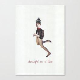Straight as a line Canvas Print
