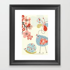 Spring Birdie Framed Art Print