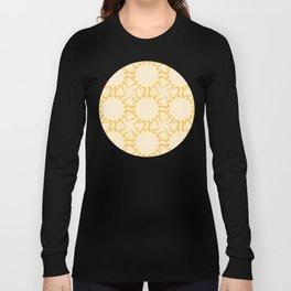 Sun Lattice Pattern Illustration Long Sleeve T-shirt