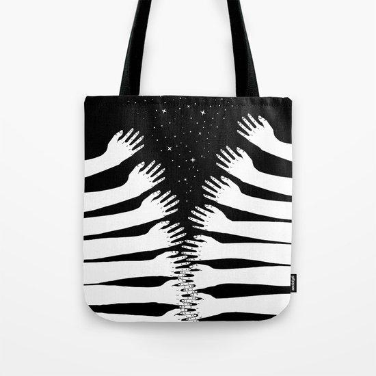 Zipper hand Tote Bag