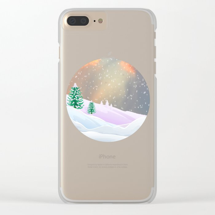 My Snowland | Christmas Spirit Clear iPhone Case