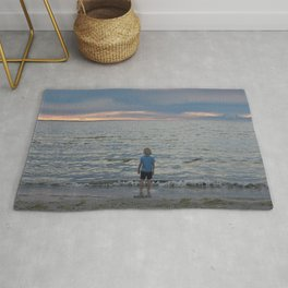 Boy and the Silver Sea Rug