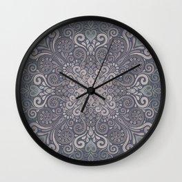 Vintage Ornate Watercolor Wall Clock