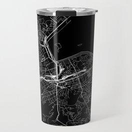 Rio De Janeiro Black Map Travel Mug