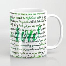 Front row green Coffee Mug