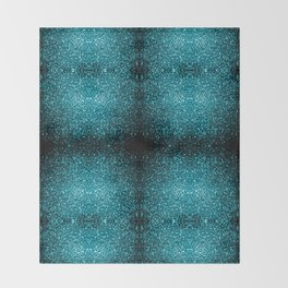 Beautiful Aqua blue glitter sparkles Throw Blanket