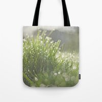 grass Tote Bags featuring Grass by Pure Nature Photos