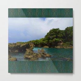 Ague Cove- Guam Metal Print