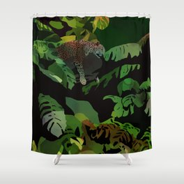 jungle cat 2 Shower Curtain