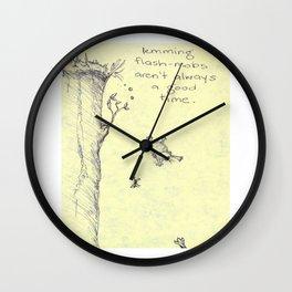 Lemming Flash-Mob Wall Clock
