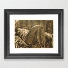 From the legs Framed Art Print