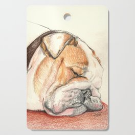 English bulldog Alfie Cutting Board