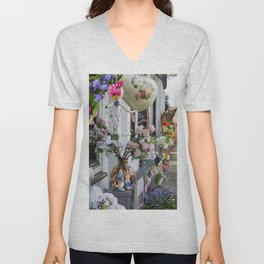 Spring In Pastels In Holland Unisex V-Neck