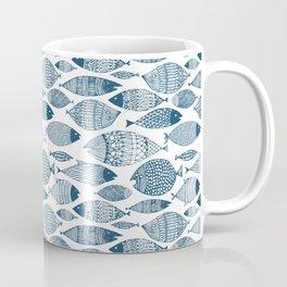 Blue Fish White Coffee Mug