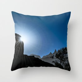 Patagonia Landscape Scene, Aysen, Chile Throw Pillow