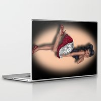 minnie mouse Laptop & iPad Skins featuring Minnie by Hayley Blythe Art