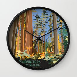 Vintage poster - Headwaters Forest Reserve Wall Clock