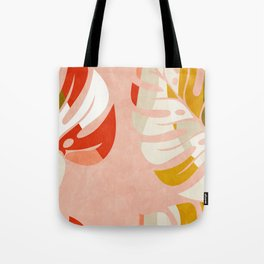 shapes leave minimal abstract art Tote Bag