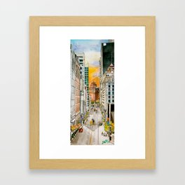 San Francisco at Dusk Framed Art Print
