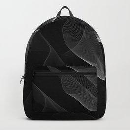Black and White Flux #minimalist #homedecor #generativeart Backpack