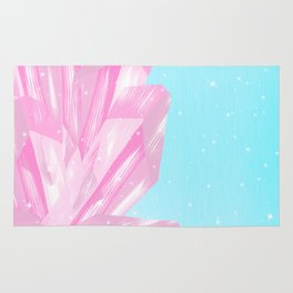 Sparkly Pinky Crystals Design Rug