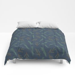 A Walk In The Pine Forest Pattern Comforters